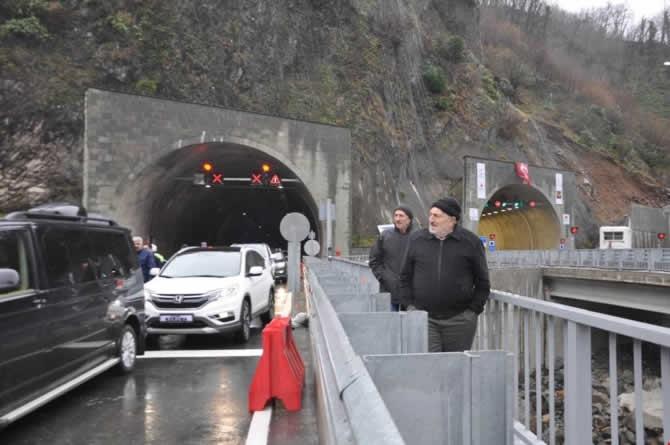 Cankurtaran Tüneli ulaşıma açıldı galerisi resim 12