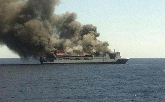 İspanya'da feribotta yangın çıktı galerisi resim 4