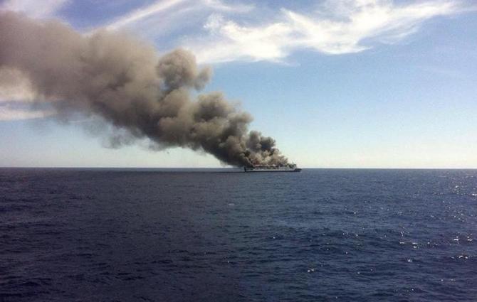 İspanya'da feribotta yangın çıktı galerisi resim 5
