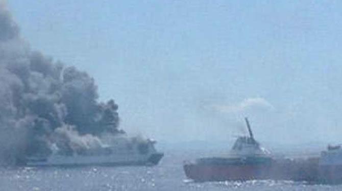 İspanya'da feribotta yangın çıktı galerisi resim 8
