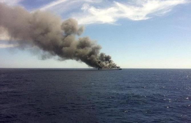 İspanya'da feribotta yangın çıktı galerisi resim 9