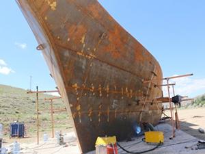 Türkiye'nin ilk gemi kütüphanesi hızla tamamlanıyor