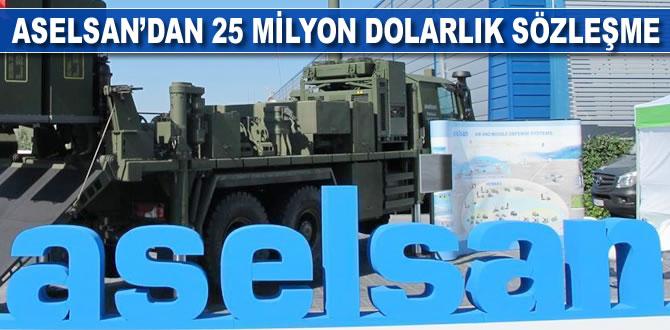 ASELSAN'dan 25 milyon dolarlık sözleşme