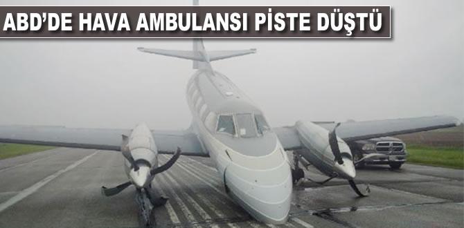 ABD'de hava ambulansı piste düştü