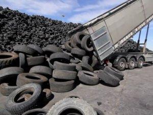 8 ayda 101 bin ton hurda lastik ekonomiye kazandırıldı
