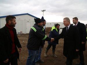 Sivas Valisi Davut Gül, Sivas-Erzincan Yüksek Hızlı Tren Projesi'nin şantiyesini ziyaret etti
