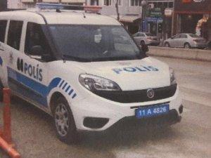 Polis aracına hatalı park cezası kesildi