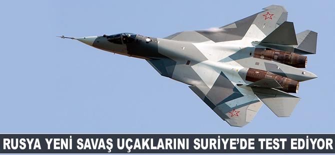 Rusya yeni savaş uçaklarını Suriye'de test ediyor!