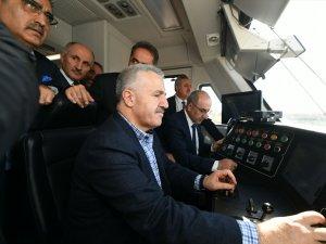 Ahmet Arslan Konya-Karaman Tren Hattı'nda test sürüşü gerçekleştirdi