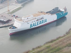Baleria'nın ilk LNG yakıtlı feribotu suya indirildi