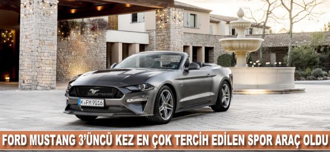 Ford Mustang 3. kez en çok tercih edilen spor otomobil oldu