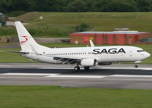 SAGA Havayolları uçağını kiraladı