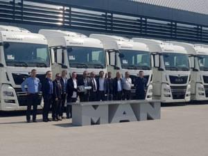 Başkent Fiat Uluslararası Nakliyat'a 30 adet MAN çekici teslim edildi