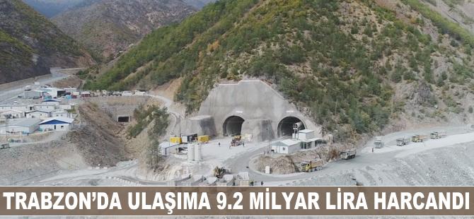 Trabzon'da ulaşıma 9.2 milyar lira harcandı