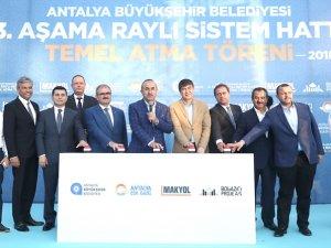 Antalya'da 3. Etap Raylı Sistem Projesi'nin temeli atıldı