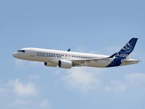 Airbus yeni A220'sini tanıttı