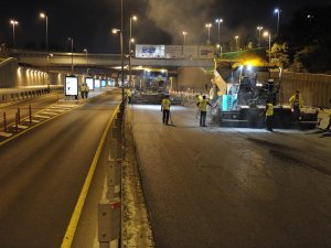 İBB, İstanbul yollarında asfalt çalışması başlattı