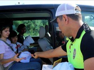 Bayramın 'çocuk trafik polisleri' görev başında