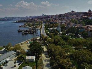 Eminönü-Alibeyköy tramvay hattı inşaatı havadan görüntülendi