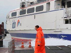 Kötü hava şartları nedeniyle bazı İDO seferleri iptal edildi