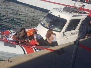 15 kaçak göçmen fiber teknede yakalandı