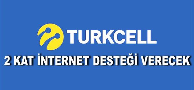 Turkcell 2 kat İnternet desteği verecek