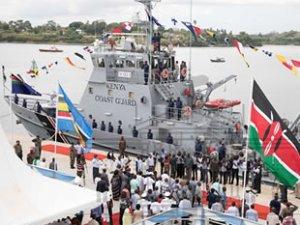 Kenya, ilk Sahil Güvenlik teknesini denize indirdi