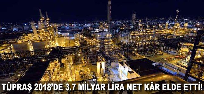 Tüpraş 2018'de 3.7 milyar lira net kâr elde etti!