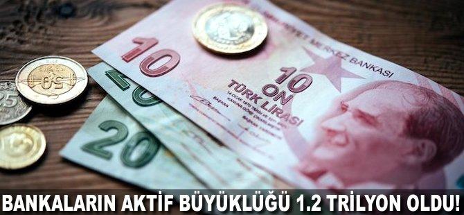 Bankaların aktif büyüklüğü 1.2 trilyon TL oldu!