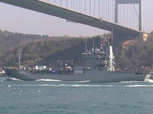 NATO'da görevli 'FGS Werra' isimli Alman ikmal gemisi, Karadeniz'e açıldı