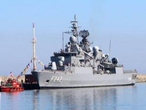 Sürmene'ye kurulacak 9. Deniz Üssü'nün ilk askeri gemisi, Yeniçam Limanı'na demirledi