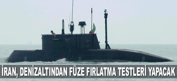 İran, denizaltından füze fırlatma testleri yapacak