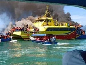 Feribotta yangın çıktı: 55 kişi kurtarıldı...