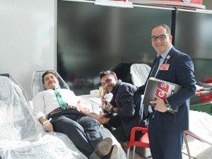 TGS'den Kızılay'a kan desteği