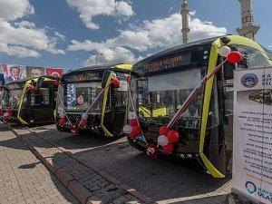 Kayseri'de şehir ulaşımına 6 elektrikli otobüs