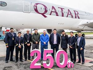 Katar Havayolları 250'nci uçağı teslim aldı