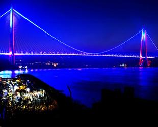 Yavuz Sultan Selim Köprüsü bu akşam mavi olacak