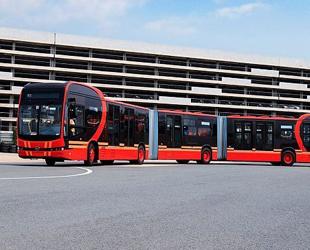 Dünyanın en uzun elektrikli otobüsü tanıtıldı