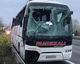 Yolcu otobüsü devrildi: 30 yaralı