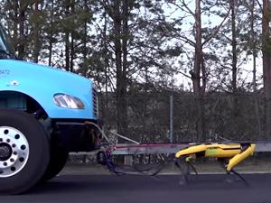 Boston Dyamics2in robotu kamyon çekti