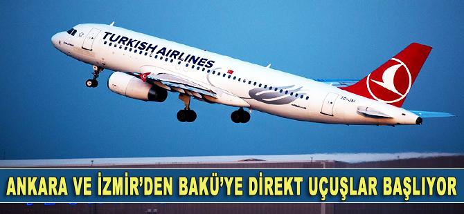 Ankara ve İzmir'den Bakü'ye direkt uçuşlar başlıyor