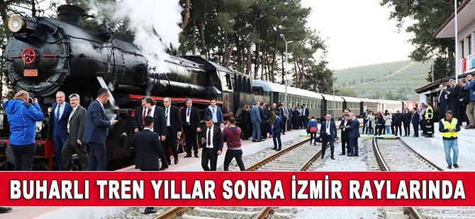 Buharlı tren yıllar sonra İzmir raylarında