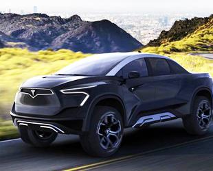 """Türk tasarımcıdan etkileyici """"Tesla pickup"""" tasarımı"""