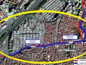 T1 Hattı, Zeytinburnu'nda yeraltına inecek