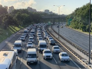 İstanbul'da köprüler bakımda! Trafik yoğunluğu hakim
