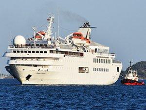 'Orient Queen' isimli kruvaziyer gemisi, Marmaris'e geldi