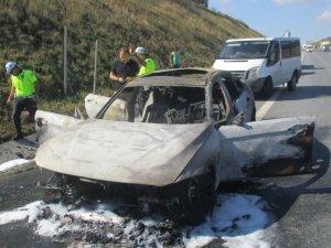 Lüks araç alev aldı: 60 bin lira kül oldu