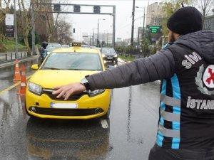 Denetimlerde bin 551 ticari taksi şoförüne para cezası kesildi