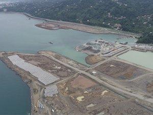 Rize-Artvin Havalimanı'nda çalışmalar hızlandı, dolgu çalışmalarının yüzde 41'i tamamlandı