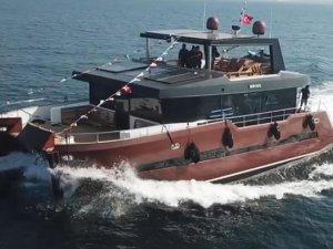 Ayden Marine dizaynı katamaran motoryat suya indirildi